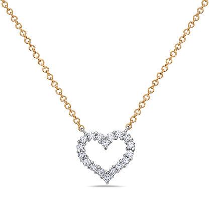 14KWY Diamond Heart Necklace