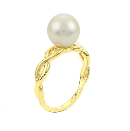 14KY Pearl Twist Ring