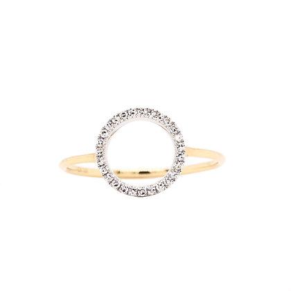 14KYW Circle Diamond Ring