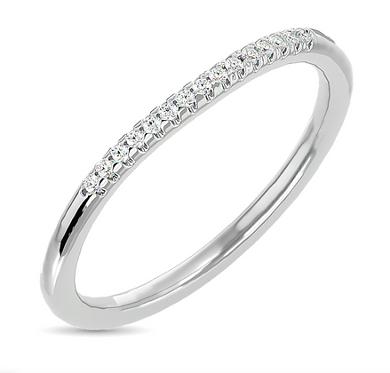 10KW 0.06ctw Diamond Stackable Band