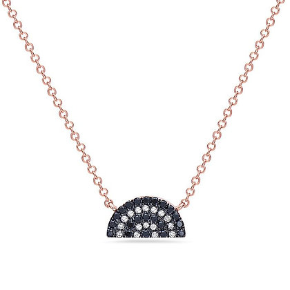 Bassali 14KR Black Diamond & Diamond Necklace