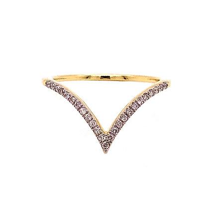 14KY V-Shaped Ring