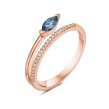 14KR Gemstone & Diamond Stackable Ring