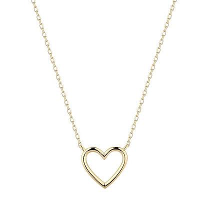 14KY JANE | Open Heart Necklace