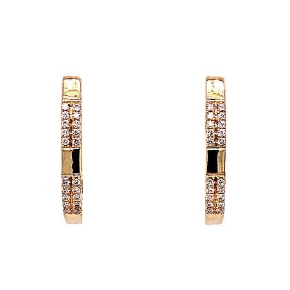 14KY Diamond Hoop Earrings