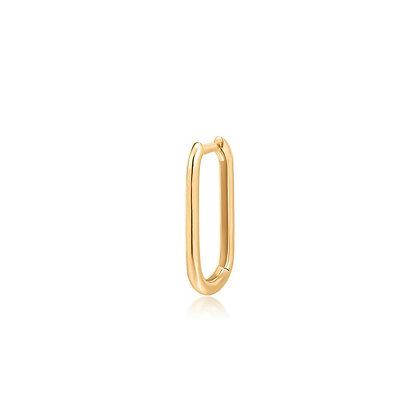 14KY IMOGEN | Single Paper Clip Oblong Huggie Hoop