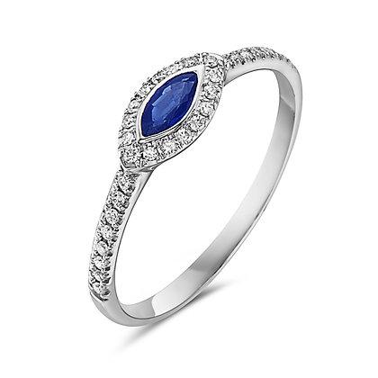 14KW Gemstone & Diamond Stackable Ring