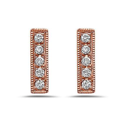 Bassali 14KR Diamond Bar Earrings