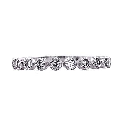 14KW Bezel-Set Diamond Stackable Ring