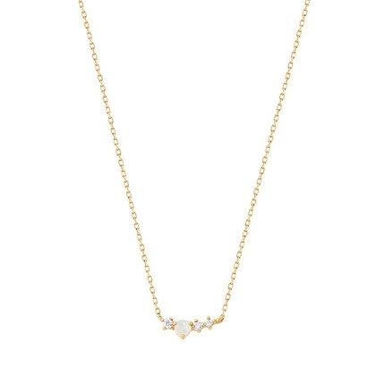 14KY VENUS | Opal and Diamond Necklace