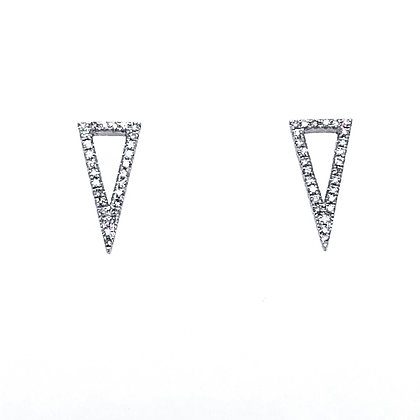 Bassali 14KW Geometric Triangle Earrings