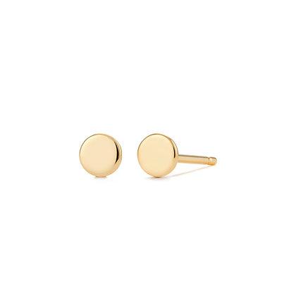 14KY DOT | Disc Stud Earrings