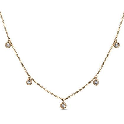 14KY Diamond Station Necklace