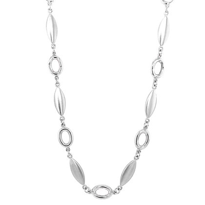14KW Satin & Open Link Necklace