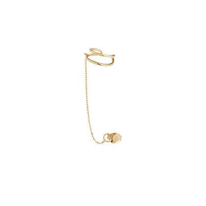 14KY STEVIE   Single Disc Chain Ear Cuff