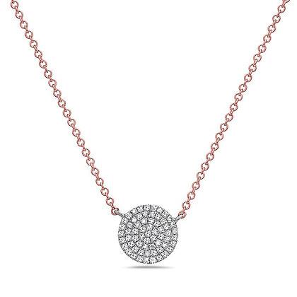 Bassali 14K Two Tone Diamond Disk Necklace