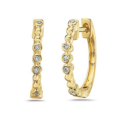 14KY Diamond Huggies