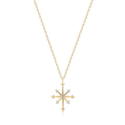 CANDIE | Diamond Octagram Star Necklace