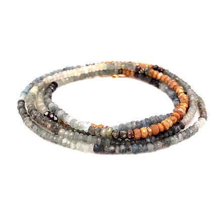 "Bella Beaded Convertible Necklace/Bracelet 36""-38"""