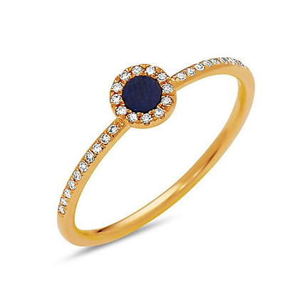 Bassali 14KY Lapis & Diamond Ring
