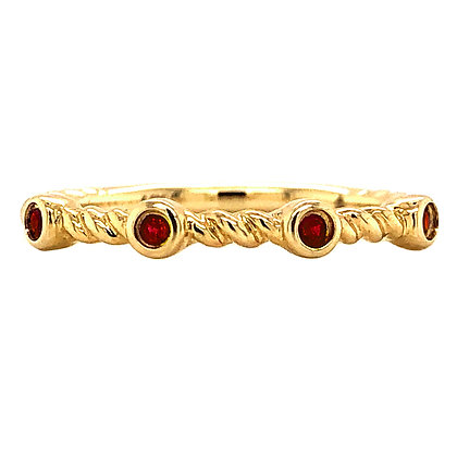 14KY Ruby Twisted Stackable Ring