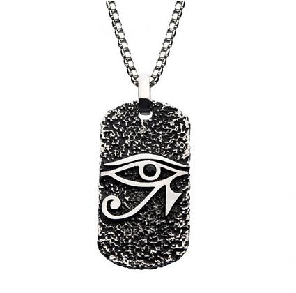 Eye of Horus Dog Tag Pendant
