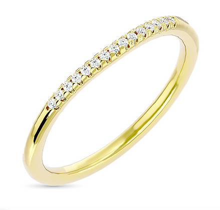 10KY 0.06ctw Diamond Stackable Band