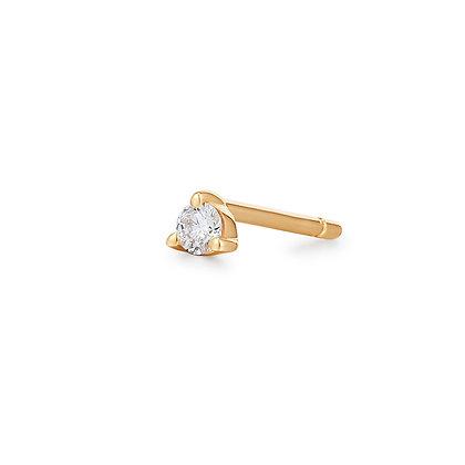 14KY UNA | Single Diamond Mini Stud Earring