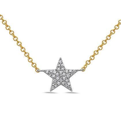 14KYW Star Necklace