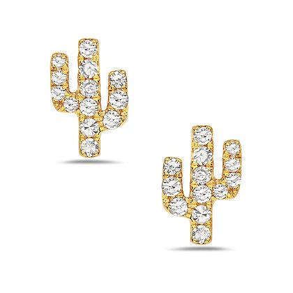 14KY Diamond Cactus Studs