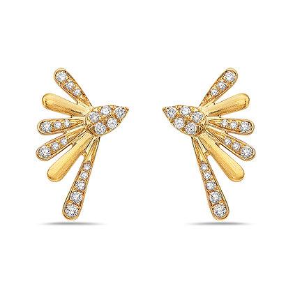 14KY Fanned Diamond Earrings
