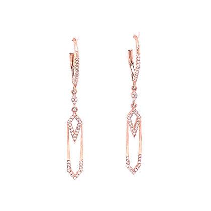 Bassali 14KR Geometric Diamond Earrings