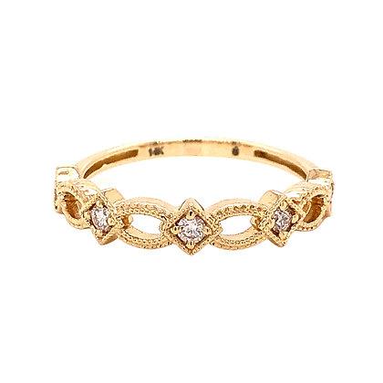 14KY Diamond-Shape & Negative Space Ring