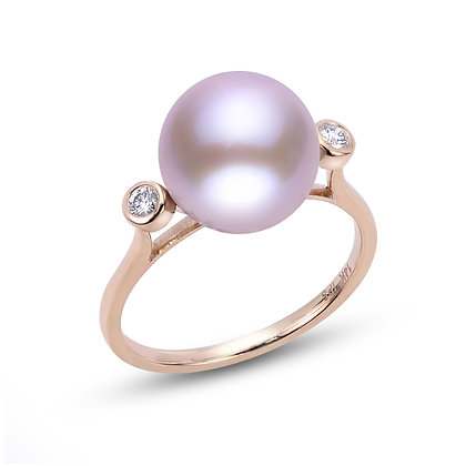 14KR Windsor Pearl & Diamond Ring