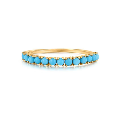 14KY MARIA | Turquoise Stacking Ring