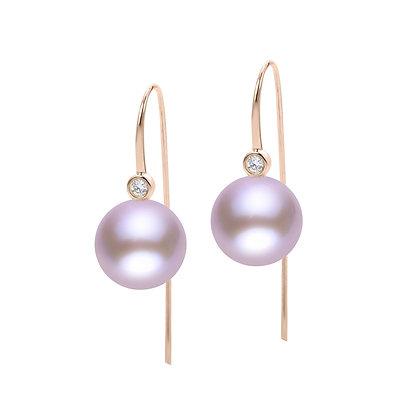 14KR Windsor Pearl & Diamond Earrings