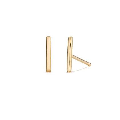 14KY SAL   Bar Stud Earrings