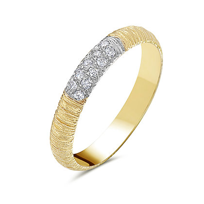Bassali 14KY Textured Diamond Band