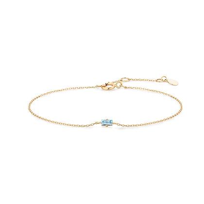 AZURE   Aquamarine Baguette Bracelet