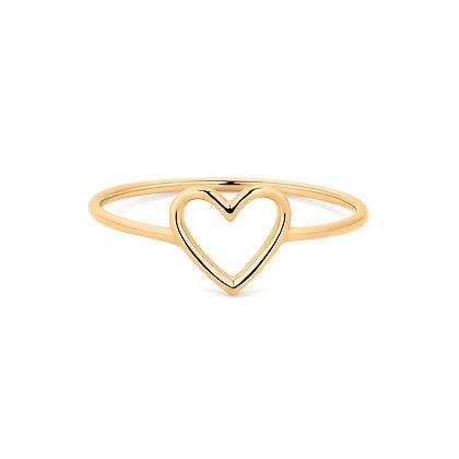 14KY JANE   Open Heart Ring
