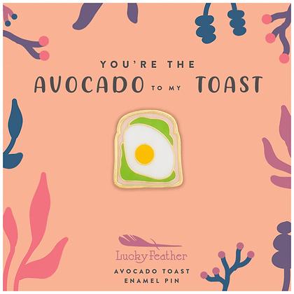 Avocado Toast Enamel Pin