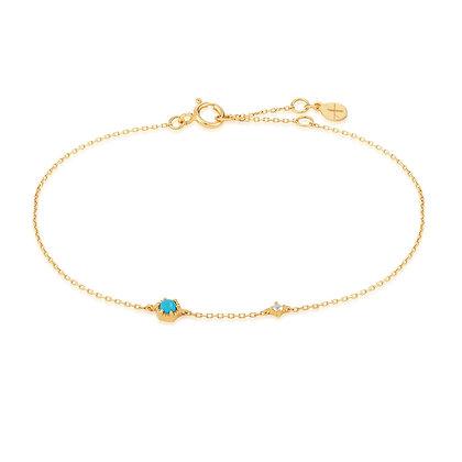14KY AMINA | Turquoise & White Sapphire Bracelet