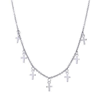 14K Dangling Cross Necklace