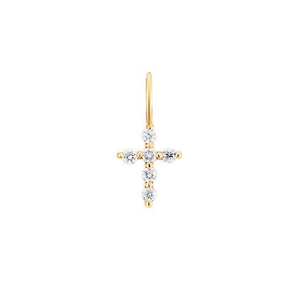14KY GRACE | Diamond Cross Charm