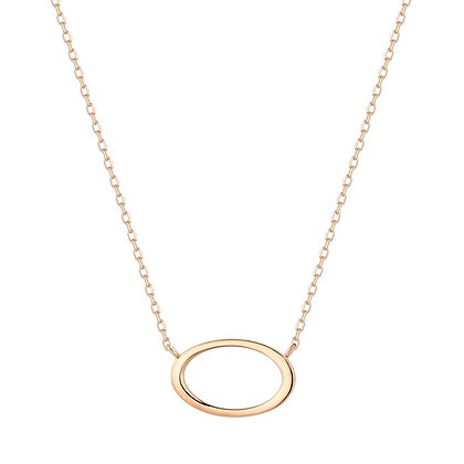 14KY IRENE | Open Oval Necklace