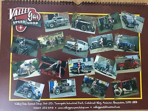 Valley Gas Speed Shop calendar 2017/2018 - collectors issue
