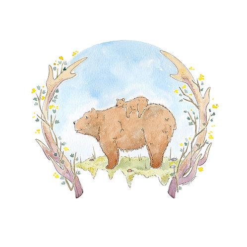 Mountain Bears : Original Watercolor