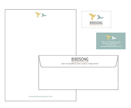 Birdsong Bodywork Stationery