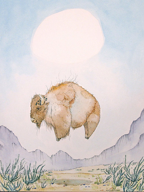 Floating Above the Sagebrush - Limited Edition Archival Reproduction