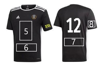 Game T-shirt black (second equipment spo